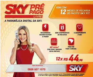 kit sky pre pago livre