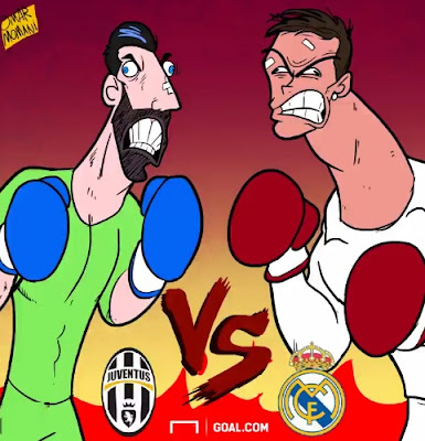 Juventus vs Real Madrid... Gianluigi Buffon vs Cristiano Ronaldo... Get hyped for the Champions League final! #UCL