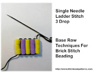 Click the image to view the single needle ladder stitch beading tutorial.