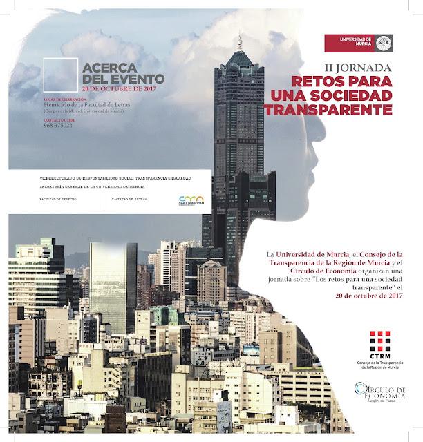 """II Jornada: """"Retos para una Sociedad Transparente""""."""