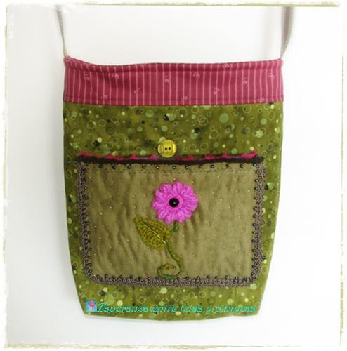 Esperanza entre telas y pinturas bolso y percha crazy crochet - Perchas para bolsos ...