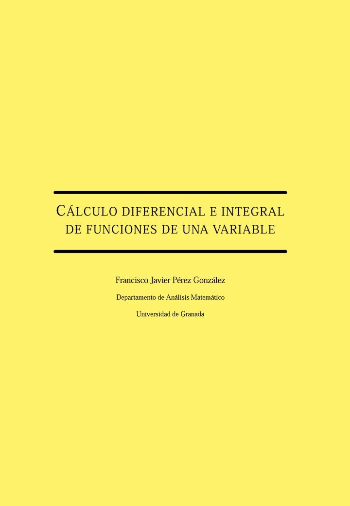 Cálculo diferencial e integral de funciones de una variable