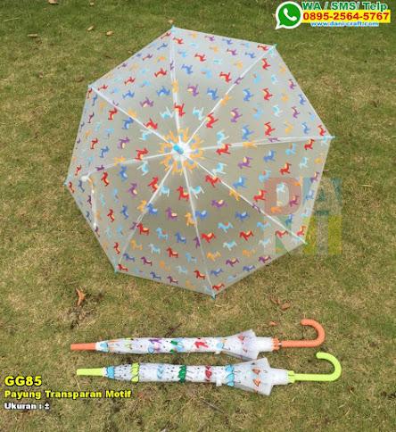 Payung Transparan Motif