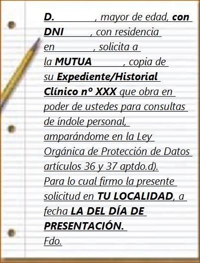 Mobbingmadrid Modelo petición historia clinica
