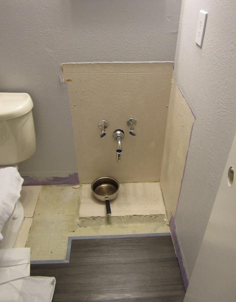 Giy goth it yourself bathroom rehab flooring for Bathroom rehab
