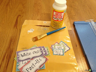 Mod Podge your labels!