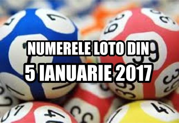 Numerele castigatoare iesite la tragerile loto din 5 ianuarie