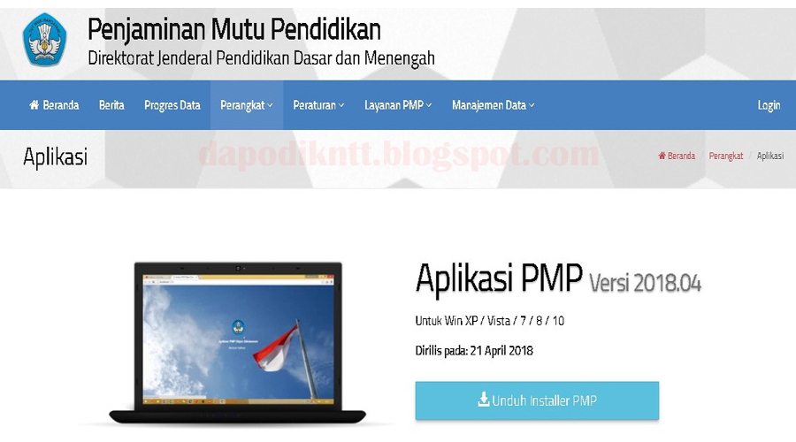 http://dapodikntt.blogspot.com/2018/04/rilis-aplikasi-pemetaan-pmp-201804.html