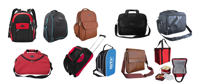 Production of backpack bags, suitcases, suitcases, draw bags, cross-bags, canvas bags, briefcases