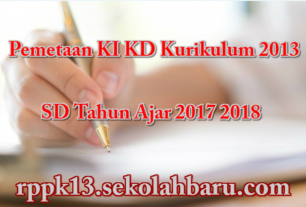 Pemetaan KI KD Kurikulum 2013 SD