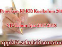 Pemetaan KI KD Kurikulum 2013 SD Tahun Ajar 2017 2018