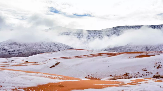 Nieve-desierto-del-Sahara-fotografías