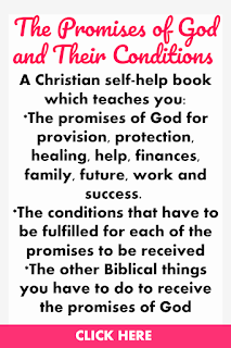 The Promises of God and their Conditions is a Christian self help book that teaches you biblical promises for provision, protection, healing, help, finances, family, future, work and success.