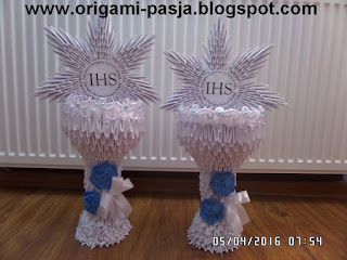 I Komunia Święta pamiątka - origami modułowe, 3d.