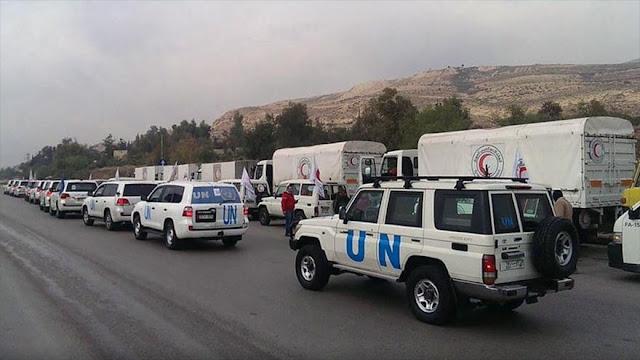 Ayuda alimentaria de la ONU a Siria contiene heces y cristales
