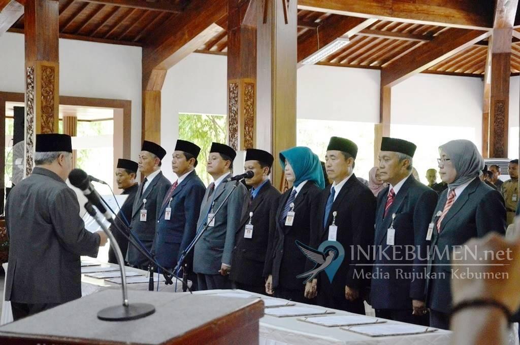 Bupati Kebumen Rotasi Sepuluh Pejabat Eselon II