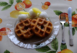 wafles-with-lemon-syrup, gofre, sirope-de-limon