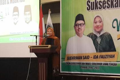 Deklarasi Perempuan Bangsa PKB Kota Semarang, Komitmen Menangkan Sudirman - Ida