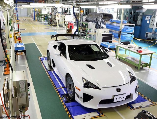 Vergangenen Freitag verließ der 500. und somit letzte Lexus LFA das Werk in Japan