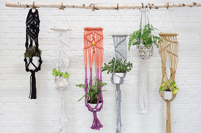 Accent Decor Top 10 Bestsellers - Eco Friendly Macrame Plant Hangers
