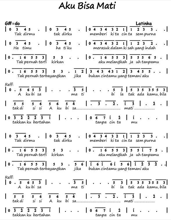 Chord Aku Bisa Flanella : chord, flanella, Angka, Pianika, Latinka, Recorder, Keyboard, Suling, Chord, Piano
