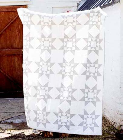 Modern Two-tone Quilt Free Pattern