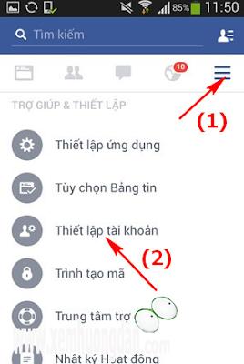 Huong dan doi mat khau facebook
