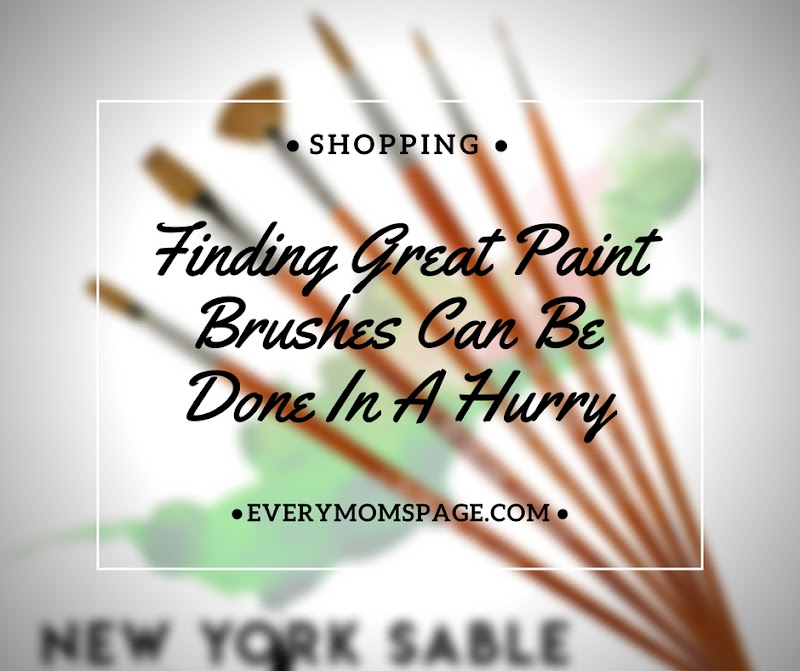 Finding Great Paint Brushes Can Be Done In A Hurry