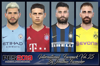 PES 2019 Facepack International vol 25 by Jonathan Facemaker