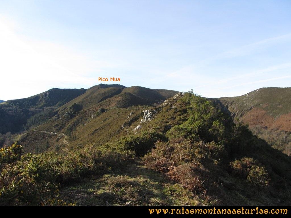 Pico Mua PR AS 46 Cresta hasta el pico Múa.