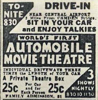 Camden, NJ Drive-In Movie Theater Advertising