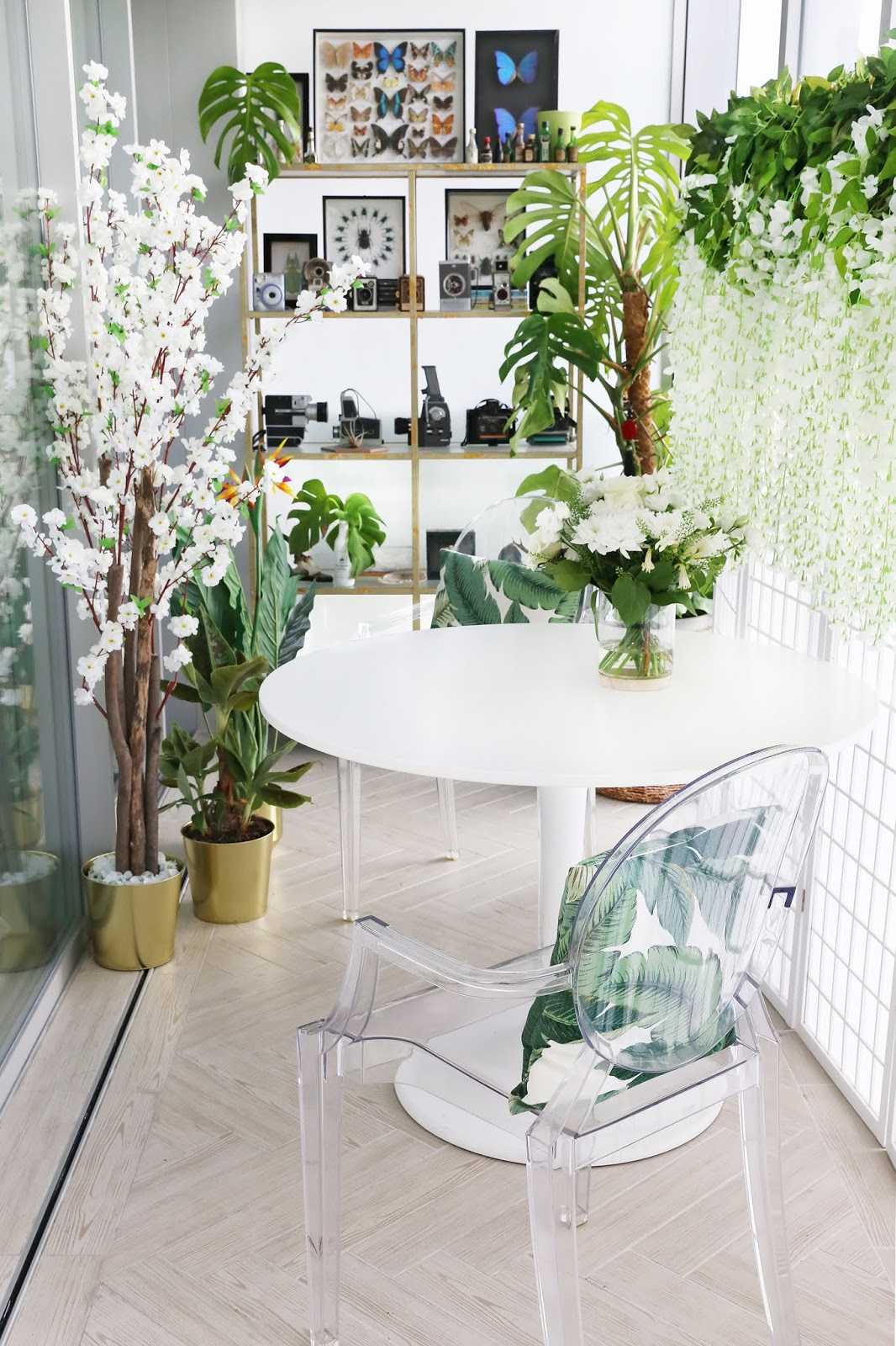 Bringing the outdoors in - Part 3 of my London Home Tour, the Winter Garden (conservatory) by Posh, Broke, & Bored