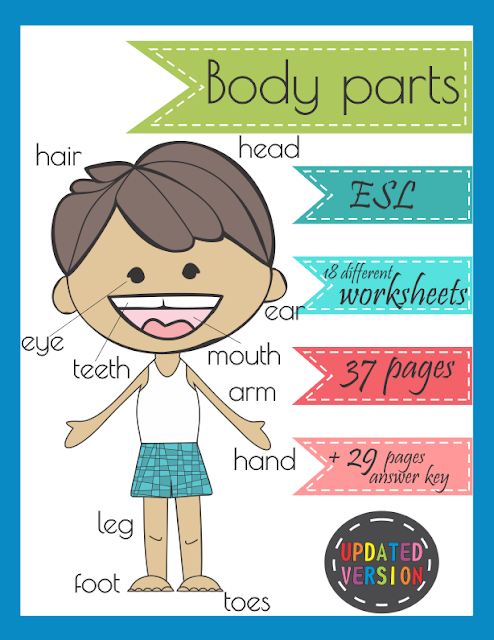 Body Parts ESL Worksheets Printables