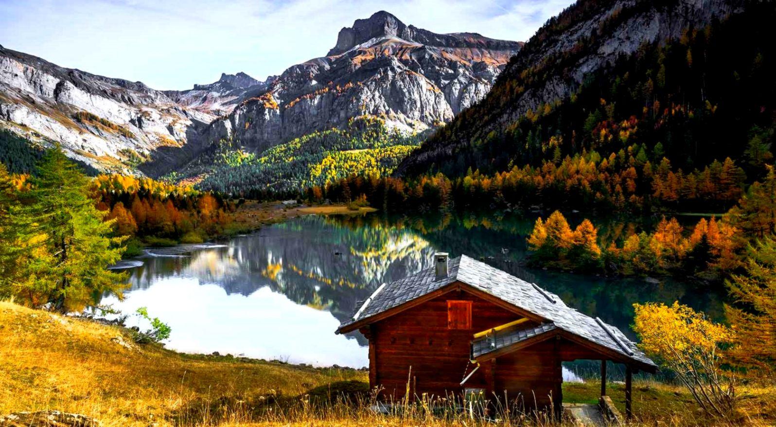 Autumn Mountain Lake Wallpaper Dom Wallpapers