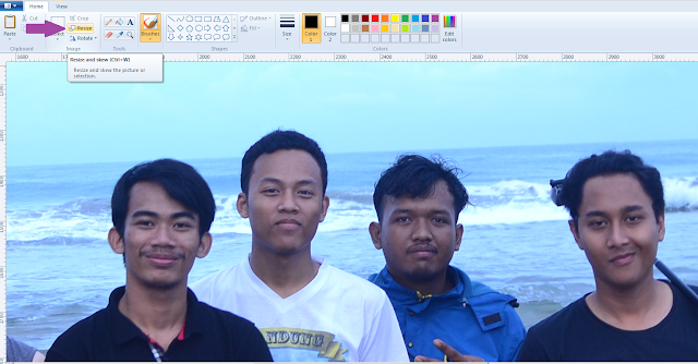 Compress gambar di Paint