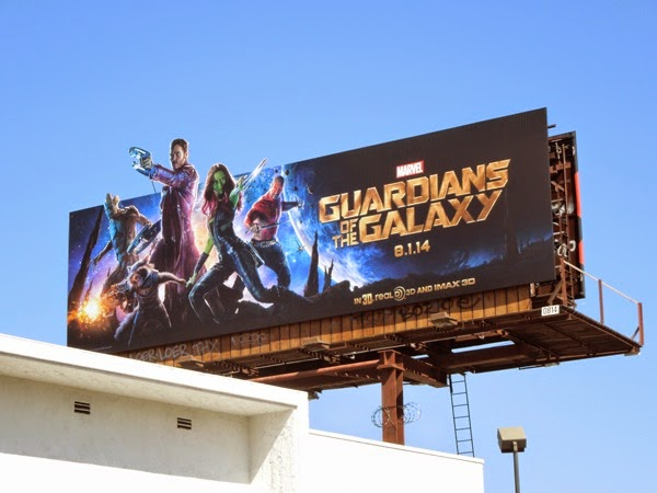Guardians of the Galaxy movie billboard