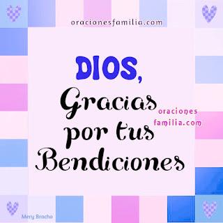 Oración corta de gracias a Dios por bendiciones a la familia, i