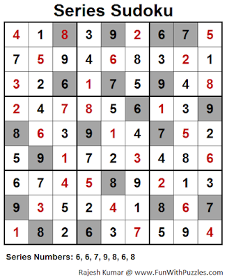 Series Sudoku (Fun With Sudoku #38) Puzzle Solution