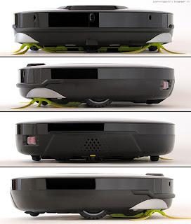 LG Hom-Bot Square VR64703LVM, viste laterali