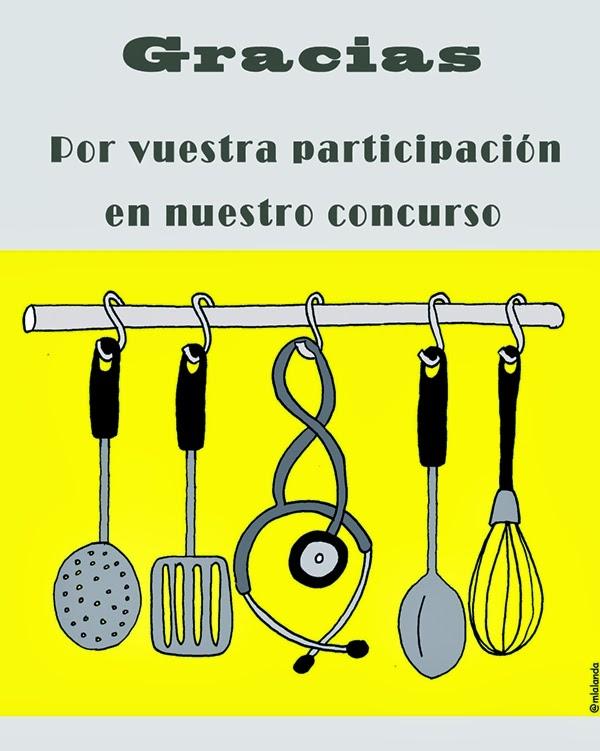 Listado de participantes y de recetas del Concurso recetas sanas, ligeras y equilibradas
