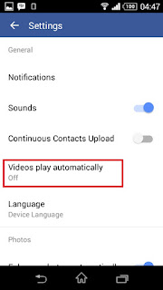 Cara Mematikan Autoplay Video Facebook #3