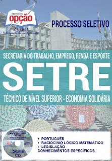 Apostila Secretaria do Trabalho BA - concurso SetreBahia 2016.