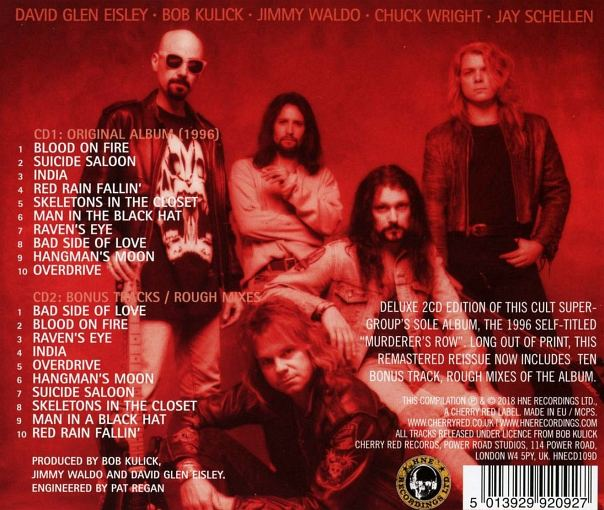MURDERER'S ROW - Murderer's Row [Expanded 2CD Edition remastered] (2018) back