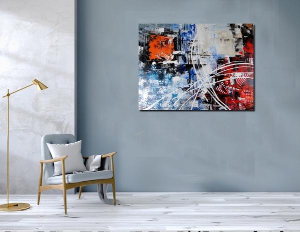Tableau abstrait et moderne, intintulé NIIRGYM