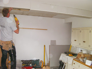 carpenter at work in house
