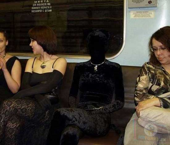 Mannequin in the subway