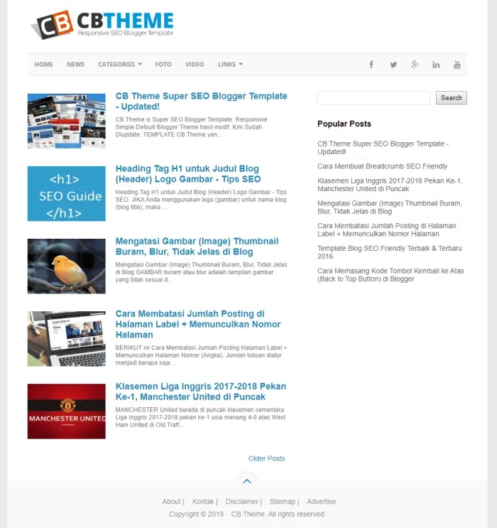 CB Theme Best Free Responsive Blogger Templates