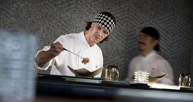 Chef Chase Kojima of Sydney's Sokyo, and chef de cuisine Adam Lane at Kiyomi