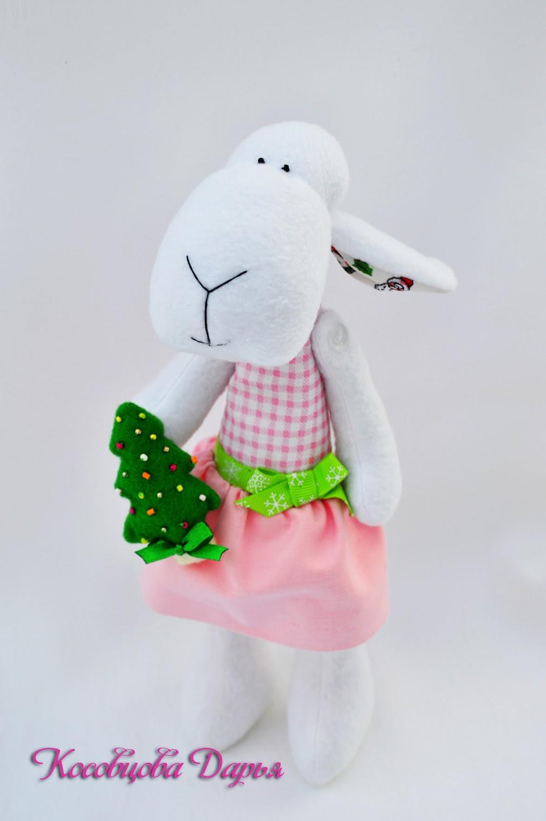 овечки ручной работы, игрушки овечки, овечка мягкая, купить овечку