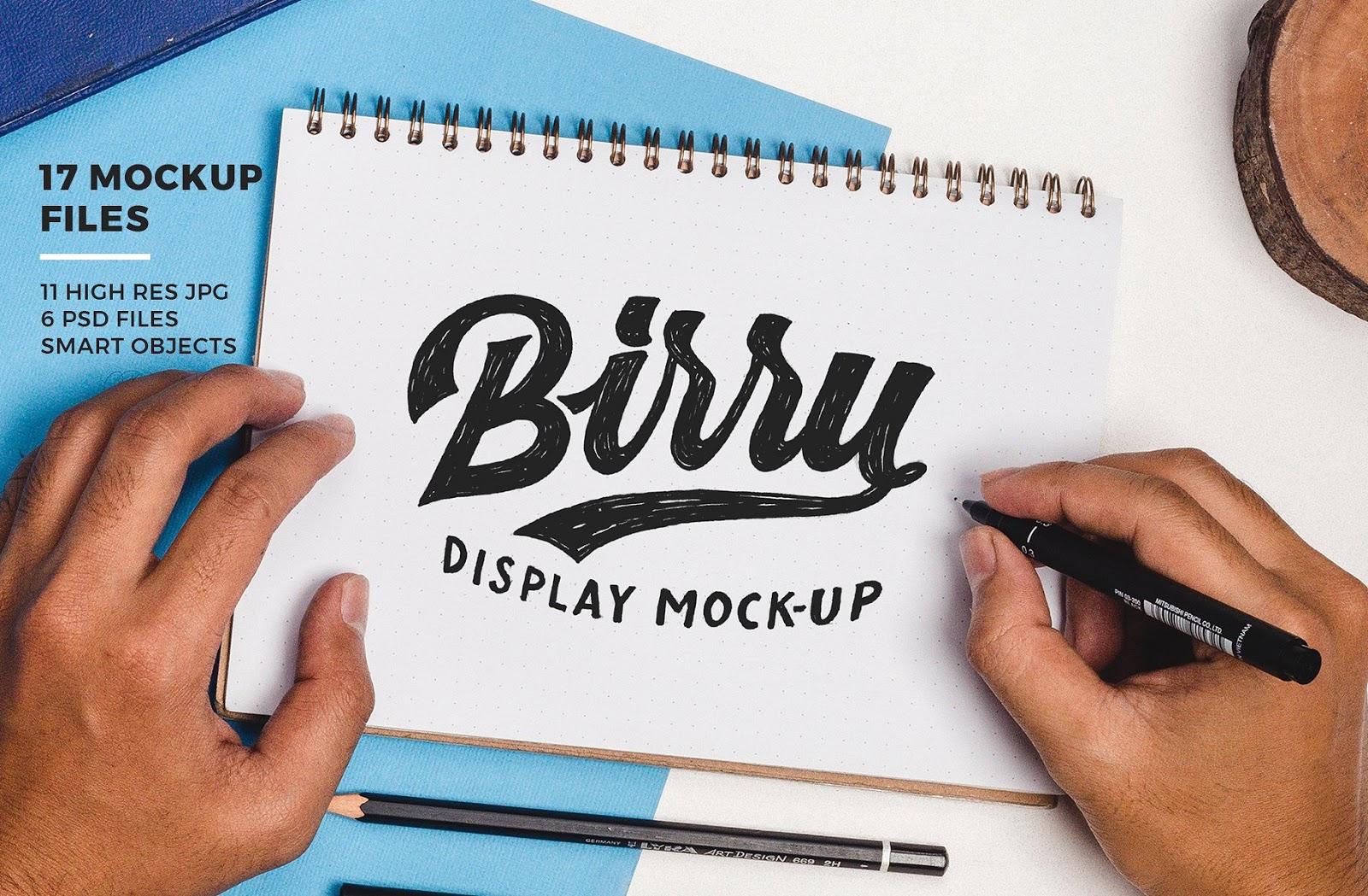 Birru Display Mockup